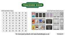 British Rail Platform Numbers & Posters - Model Railway - N Gauge 2mm
