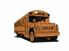 Personalized School Bus Wooden Christmas Ornament (FREE SHIPPING)