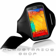 BLACK SPORTS ARMBAND COVER F SAMSUNG GALAXY NOTE 3 NEO N7505 GYM RUNNING FOOTING