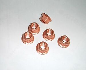 TRIUMPH EXHAUST PIPE NUTS copper plated DAYTONA 955i T595 675 STREET TRIPLE T509
