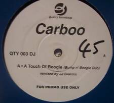 """CARBOO ~ A Touch Of Boogie ~ 12"""" Single PROMO"""