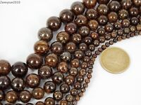 Natural Bronzite Jasper Gemstone Round Beads 15.5'' 4mm 6mm 8mm 10mm 12mm 14mm