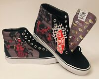 DEADPOOL! Marvel Vans LE Off The Wall Unisex Skater Shoes (Men's 9/Womens 10.5)
