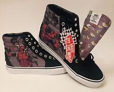DEADPOOL! Marvel Vans LE Off The Wall Unisex Skater Shoes (Men's 9/Womens 10.5)