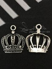 PJ140 /10pc Tibetan Silver Charm Imperial crown retro Accessories Wholesale