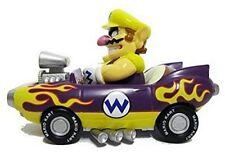 "Nintendo Mario Kart Wii Pull-Back Car Mini Figure - 3"" Wario (Japanese Import)"