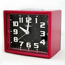 Authentic SEIKO Loud Alarm Clock Red Sweep Snooze Night LED Luminous QHK024