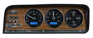 Dakota Digital 73-85 Jeep Wagoneer Gauges Black Face/ Blue VHX-73J-WAG-K-B
