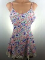 Vintage Victoria's Secret Nightgown Small Floral Babydoll Lingerie Teddy Lace