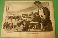 Pro Familia 1935 Ortisei Littoriali Of Snow Front S. A. R. Vittorio Emanuele