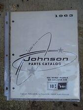 1963 Johnson 10 HP Sea Horse QD QDL 24M 24B Outboard Motor Parts Catalog    L