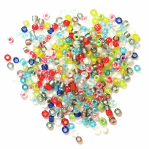 2 mm multicolour rocailles Beads by Craft Factory approx 15g - jewellery making