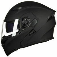 Motorcycle Dual Visor Flip up Modular Full Face Helmet DOT Approved M L XL XXL S