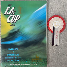 More details for liverpool v sunderland 1992 fa cup final programme + sunderland rosette
