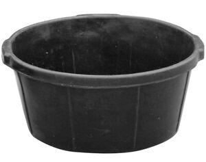 6.5 GALLON RUBBER FEED TUB PAN NO FREEZE CRUSH LIVESTOCK BOWL COW HORSE GOAT PIG