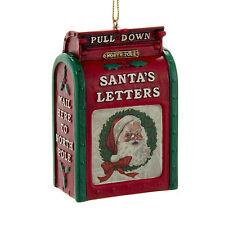 KURT ADLER SANTA'S VINTAGE MAILBOX LETTERS TO THE NORTH POLE CHRISTMAS ORNAMENT