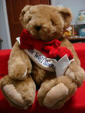 "Vermont Teddy Bear Co 16"" Classic Jointed Get Well Soon Teddy Bear Plush"