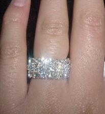 Wholesale 12Pcs 3 Rows Stretchy Crystal Rhinestone Elastic Jewelry Rings