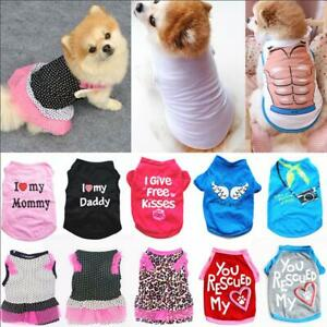 Summer Spring Small Cat Dog Clothes Breathable Dogs Vest Puppy Pet Dress T-shirt