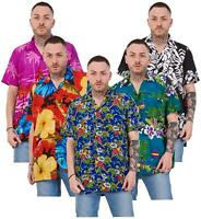 Mens Hawaiian Shirt Multi Colors Print Regular Big Size Summer Fancy Dress M-5XL