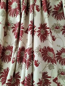 Laura Ashley kimono cranberry curtains 90in L x 62in W
