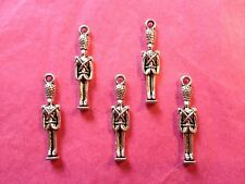 Tibetan Silver Nutcracker/Soldier Charms 5 per pack - Christmas Themes