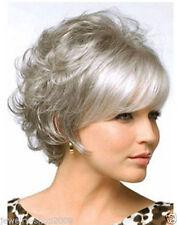 New Grey Curly Wigs Short Hair Wigs Women's Fashion Wig