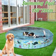 150cm Portable Pet Dog Swimming Pool Foldable Bath Paddling Pool Puppy Bathtub