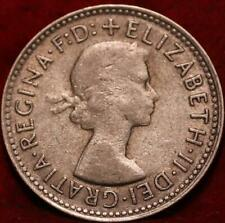 1960 Australia Shilling Silver Foreign Coin