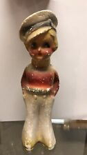 Vintage Chalkware Doll 9 inches tall 1920s Carnival Prize Antique Chalk