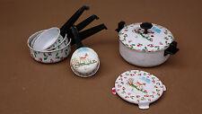 Dînette casseroles métal jouet vintage ancien jeu cocotte CHAMPIGNONS BICHE