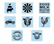 8 Piece Farmhouse Stencil Bundle - Reusable - Paint Your Own Wood Sign