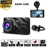 Full HD 1080P Car DVR Dual Lens Camera Vehicle Dash Cam Recorder Night Vision