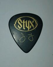 Styx - James Young -guitar pick - Brave New World Tour 99' - (black)