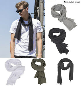 Build Your Brand Jersey Scarf BY063 -Adults Lightweight Cotton Casual Look Scarf