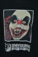 clown evil scary horror t-shirt size large