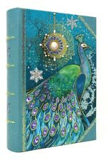 Punch Studio Gold Foil Nesting Book Box Teal Jewel Peacock 61675 Small