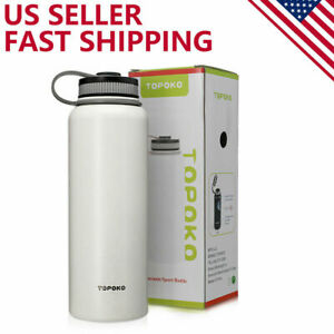 40 Oz Stainless Steel Double Wall Leak Spoof Vacuum Insulation Wide Mouth Bottle