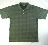 Masters Clubhouse Collection Green Plaid Golf Polo Shirt Size L Augusta National