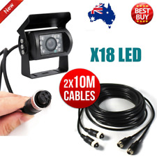 4 PIN Heavy Duty 12V 24V CCD IR Colour Reverse Rear View Camera + 2X10M Cable