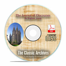The Journal of Discourses, Brigham Young, Mormon Church, All 26 Volumes CD F17