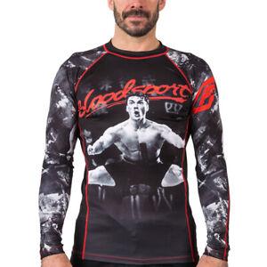 Fusion Fight Gear Bloodsport BJJ Rash Guard Compression Shirt
