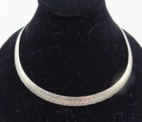 """STERLING SILVER 950 MILOR Italy Omega Reversible Necklace 18"""" Long"""