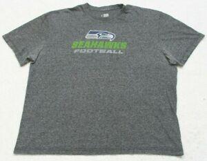 NFL Seattle Seahawks Gray Tee T-Shirt Top Size 2XL Short Sleeve Cotton Blend Man