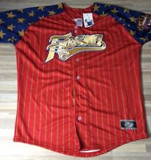 Fresno Grizzlies Stars & Stripes Jersey Men's Size LARGE Astros Authentic NEW!