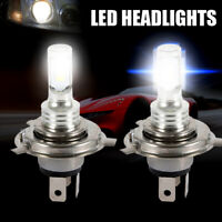 2Pcs H4 6000k 9003 HB2 CSP LED Headlights Bulbs Kit High Power Beam SUPER WHITE