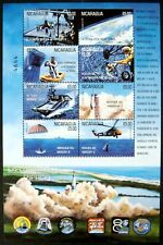 2000 MNH NICARAGUA SPACE EXPLORATION STAMP SHEET OF 8 MERCURY 8 SHEPARD INTREPID