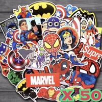 50x Marvel/Dc Super Hero Stickers Avengers Super Spiderman For Party Loot Bags