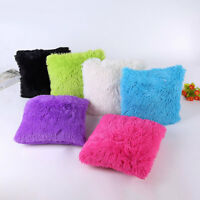 Soft Plush Fluffy Throw Pillow Case Cushion Cover Pillowcase Furry Sofa Decors
