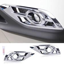 2x Chrome Fit For Honda CR-V 2012-2014 Plated Fog Light Lamp Bezel Trim Cover